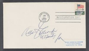 Allen J. Ellender, US Senator from Louisiana, signed 1969 Inauguration cover