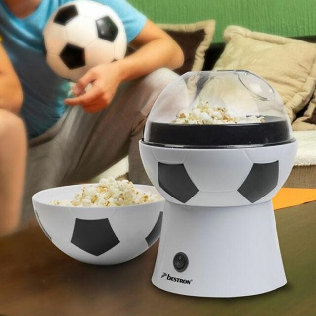 Popcornmaschine Popcornmaker Popcorngerät 1200W Popcorn Maschine Heißluft Weiß