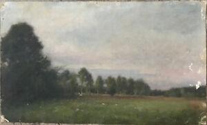 Tableau-Impressionnisme-Paysage-de-Campagne-Peinture-de-Jules-C-Cave-1859-1949