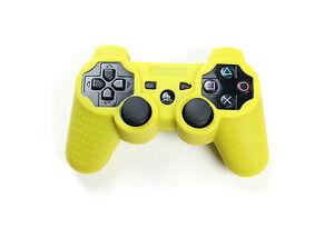 Playstation-3-Silikon-Schutzhuelle-Controller-Huelle-fuer-PS3-Neu-Gelb