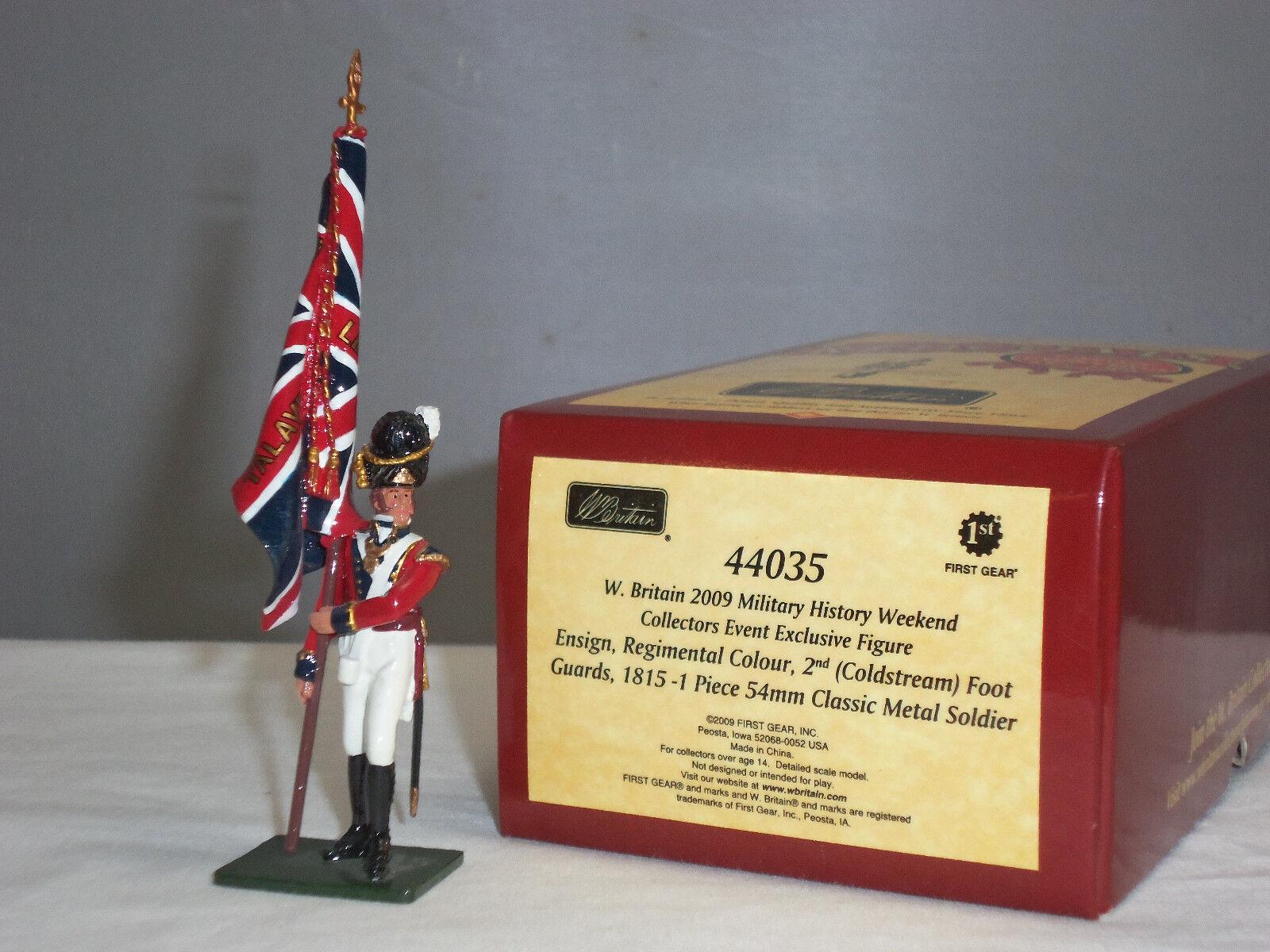 BRITAINS 44035 REDCOATS BRITISH COLDSTREAM GUARDS 1815 REGIMENTAL COLOR ENSIGN