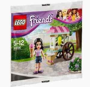 Lego-FRIENDS-30106-Ice-Cream-Stand-Polybag-set-sealed-Emma-Mini-Doll-Minifig