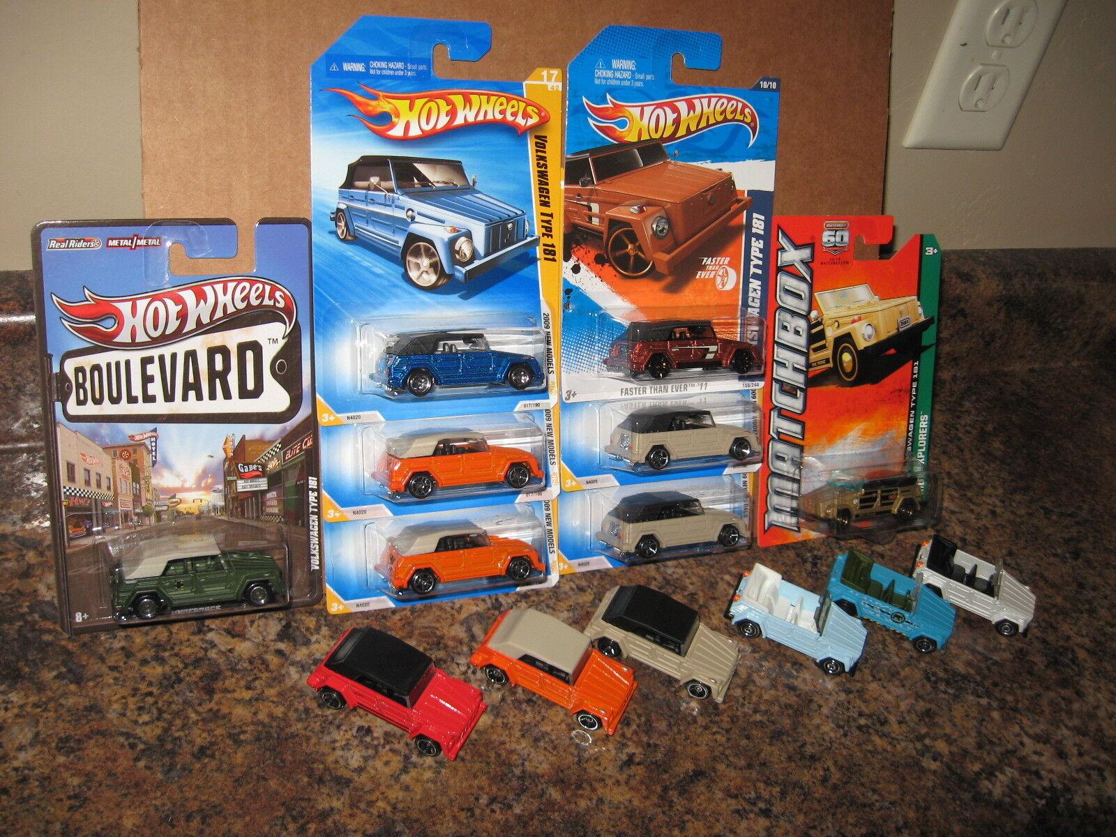 Hot wtalons matchbox Lot 1975 VW Volkswagen  Type 181 version'75 The Thing 1974  Dans votre attente