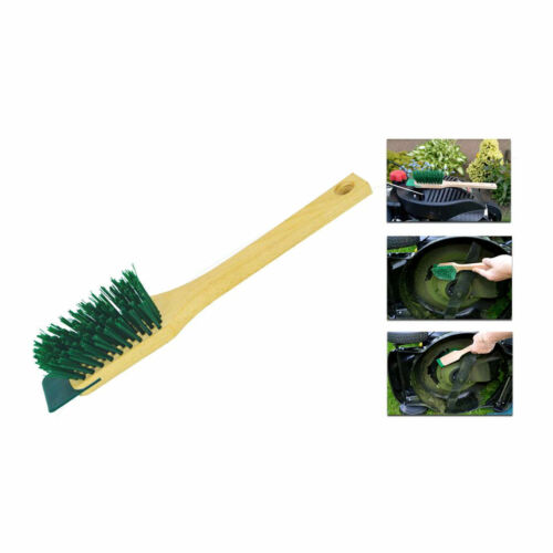 LAWNMOWER WIRE BRUSH WITH SCRAPER FOR LAWN MOWER AND BLADES CLEANING TOOL NEW