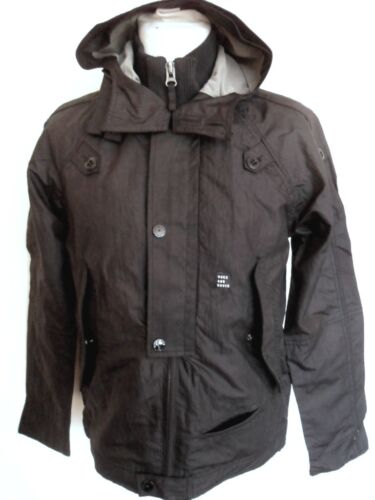 DUCK /& COVER Jacket Men/'s Windcheater Hooded Coat Curtis Black Sizes:S M XL