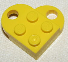 LEGO YELLOW VALENTINES DAY HEART LOVE TOKEN CHARM NECKLACE PIECE
