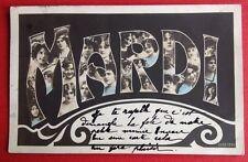CPA. 1906. MARDI. Grosses Lettres. Têtes de Femmes. Jour de la Semaine.