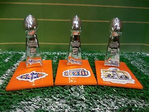 b4d18795 Details about Denver Broncos Mini Lombardi Trophy Set Mcfarlane/Pocket Pro