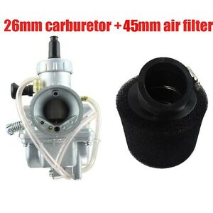 Molkt-26mm-Carburetor-Carb-Carburettor-38mm-Air-Filter-125cc-Pit-Dirt-Bike-ATV