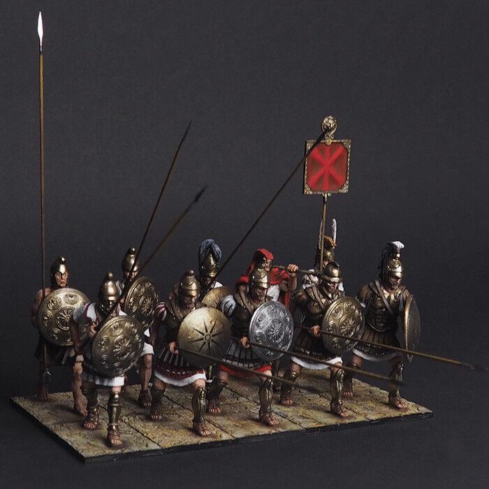 Tin soldiers, 1\30, Fragment of the Macedonian phalanx (10 miniatures)