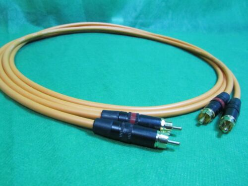 20 Ft Pair Canare L4E6S Orange Star Quad RCA to RCA HIFI Audio Cable.
