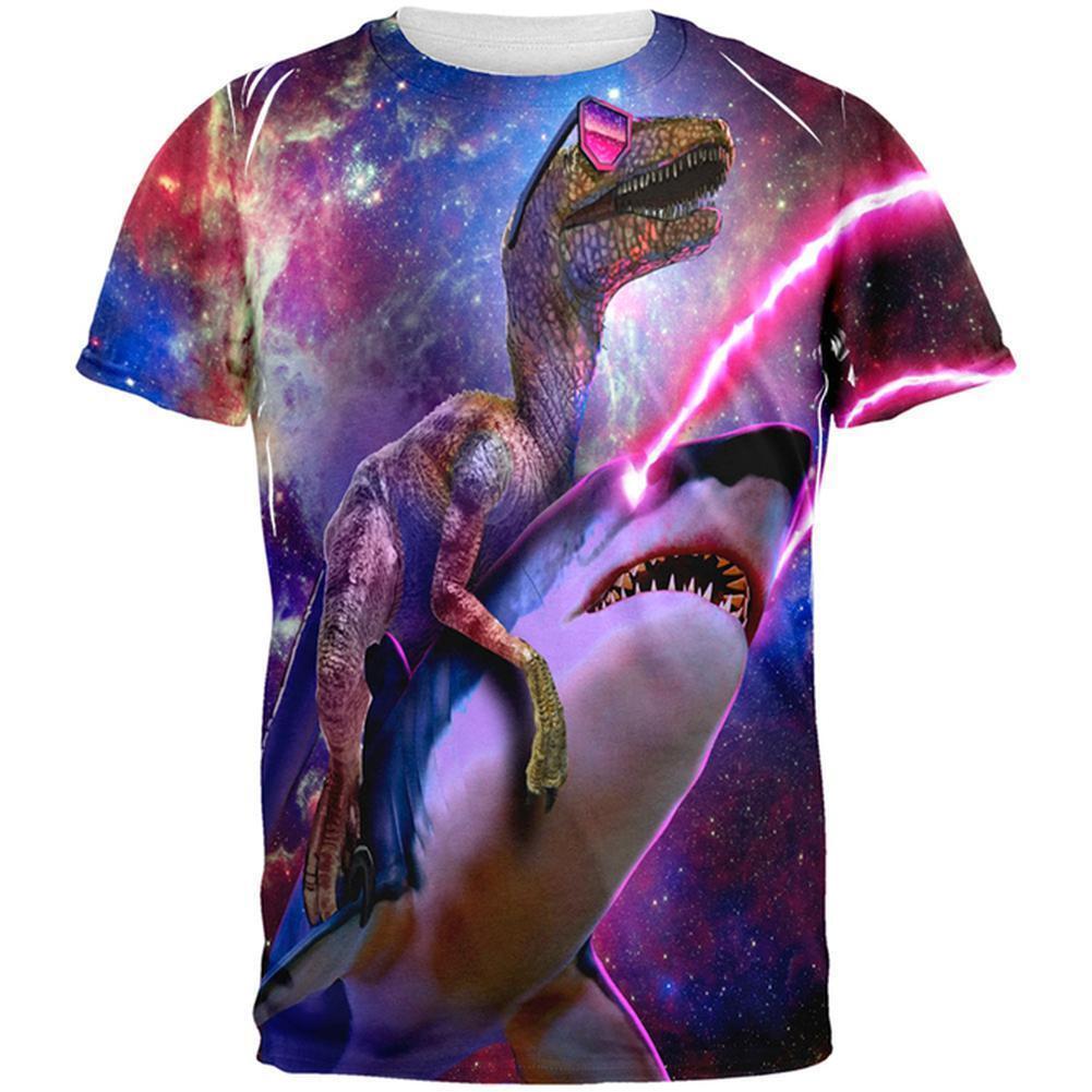 Velociraptor lasershark todo Camiseta Camiseta Camiseta Adulto 73199b