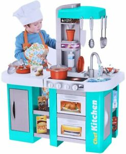 Play Pretend Deluxe Electronic Kitchen Playset With Light Sound Gift For Kids Ebay