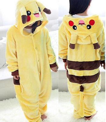 details for rich and magnificent designer fashion Kid Children Boys Girls Pikachu Bathrobe Pajamas Sleepwear ...