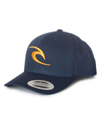 iconique Courbé Pic Réglable Bleu Ajustable Casquette 8 W 4 Rip Curl Homme Casquette de baseball