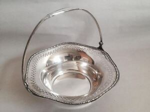 Antique-European-800-Silver-Six-Sided-Pierced-Bowl-With-Handle