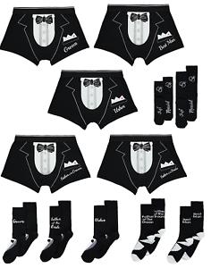 Wedding-Day-Men-Shorts-Boxers-or-Socks-Stag-Do-Underwear-Trunks-Groom-Best-Man