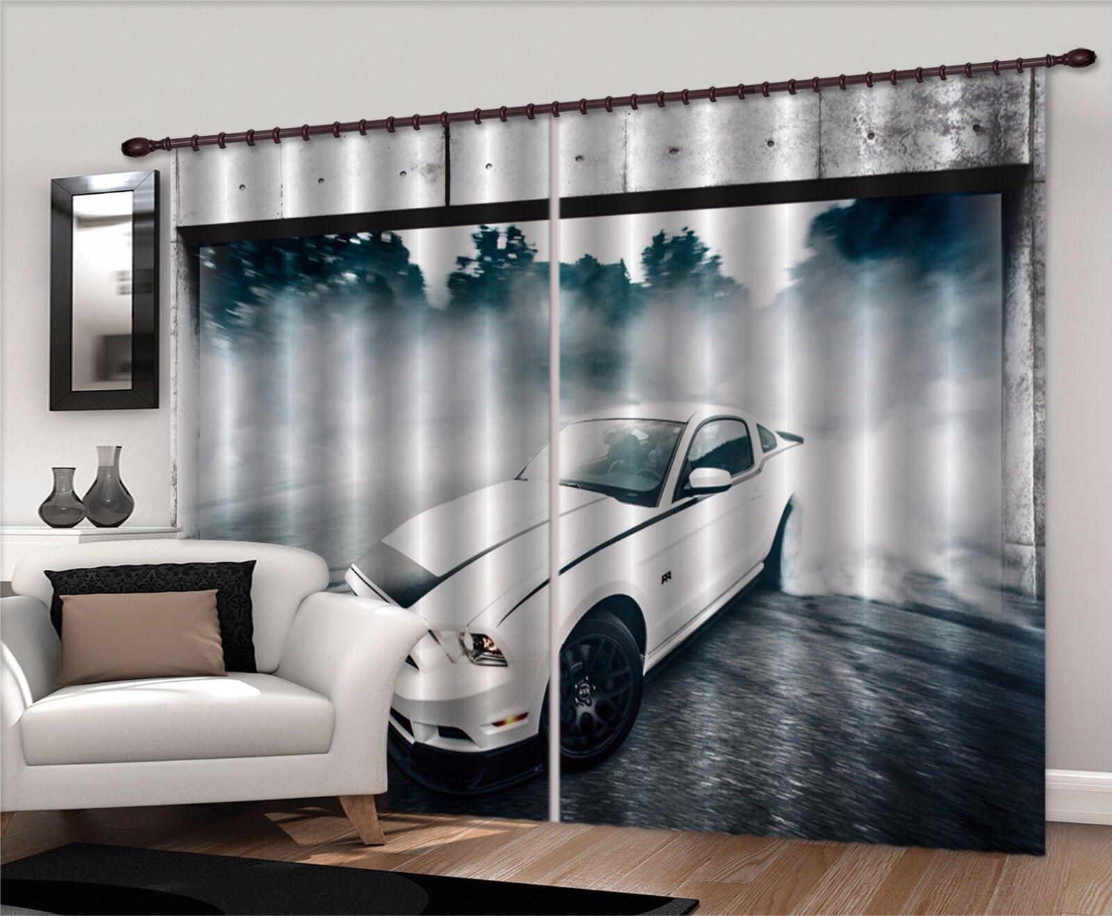 3D blancoo Coche 421 Cortinas de impresión de cortina de foto Blockout Tela Cortinas Ventana Reino Unido