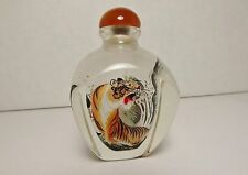 SPECIAL! BEAUTIFULLY PAINTED BY HAND INSIDE A CHINESE GLASS SNUFF BOTTLE– M1