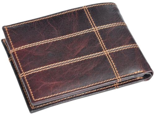 OHM Leather New York Chili Wallet with Zipped Coin Holder