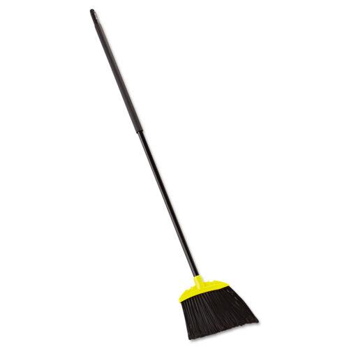 "Rubbermaid Commercial Jumbo Smooth Sweep Angled Broom 46/"" Handle Black//Yellow"