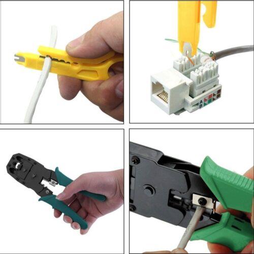 Kit de Herramientas Para Instalación de Redes RJ45 Cat5e Cat6 Tester de Cable