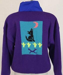 Veste taille laine réversible femmes ski grande pull loup de vintage serac en rqOARrw