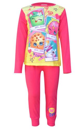 Le Ragazze Nuovi Shopkins shoppies Cotone Rosa Pigiami Pigiameria Pigiama Età 4-10 anni