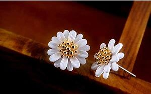 Daisy-Stud-Earrings-Christmas-Statement-Stainless-Steel-Flower-Decoration