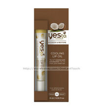 YES TO^*Cooling Lip Oil COCONUT Hydrate & restore PARABEN-FREE 99% Natural GLOSS