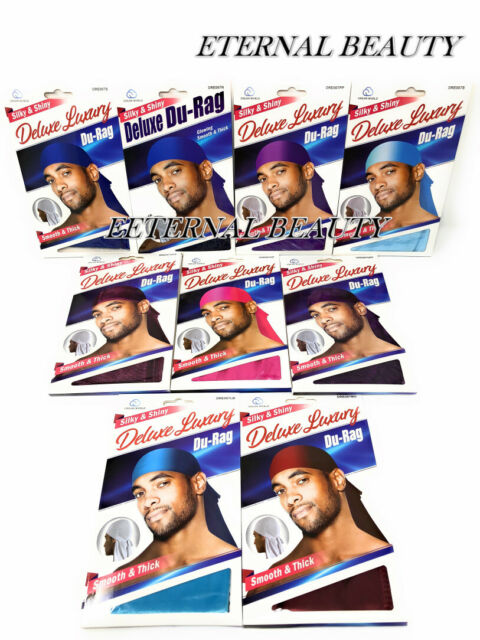 U Pick 1 PREMIUM QUALITY SATIN SHINE SILKY DURAG LONG TAIL Coconut Oil Treated