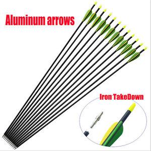 10x-32-034-Heavy-Duty-Fiberglass-Arrows-Compound-amp-Recurve-Bow-Hunting-Archery-AY