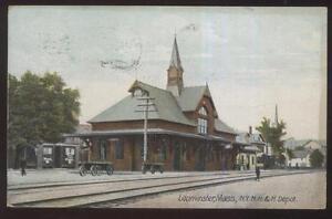 Postcard Leominster Massachusetts Ma Ny Nh Amp H Railroad