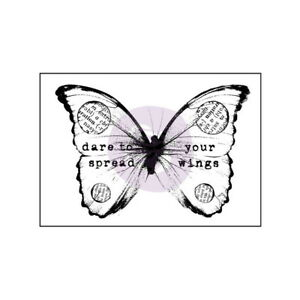034-Dare-to-spread-your-wings-034-BUTTERFLY-Finnabair-Stamp-57x40mm-Wood-Mounted-Prima