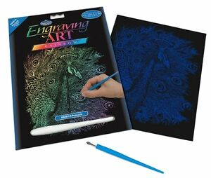 Royal-and-Langnickel-Engraving-Art-Set-Peacock-Rainbow-Foil