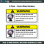 Funny-warning-sticker-x2-Rules-of-Entry-sticker-for-car-4wd-JDM-W004