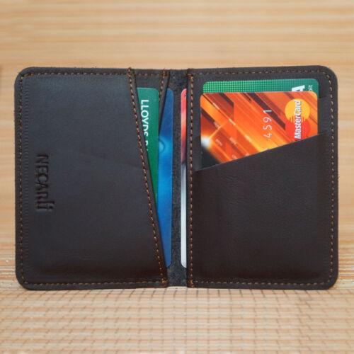 Real Leather Bifold ID Credit Card Wallet Slim Pocket Case Holder