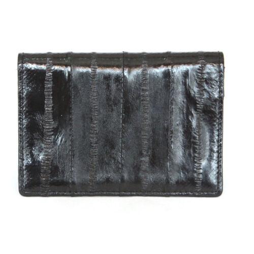 Genuine Eel skin Leather Business Credit Name Card Money Holder Case Wallet