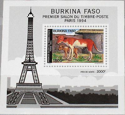 Zielstrebig Burkina Faso 1994 Block 142 S/s 981a Hunde Dogs Eiffeltumr Eiffel Tower Mnh Burkina Faso Briefmarken