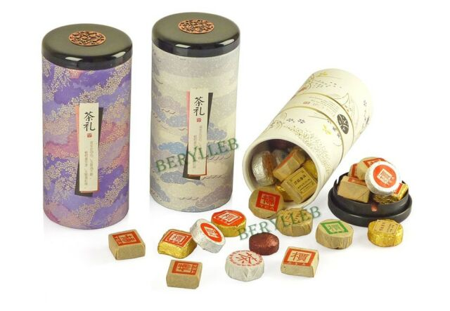 9 Kinds of Top Grade Mini Pu'er Tea Cakes 45 Grains w/t Gift Pack