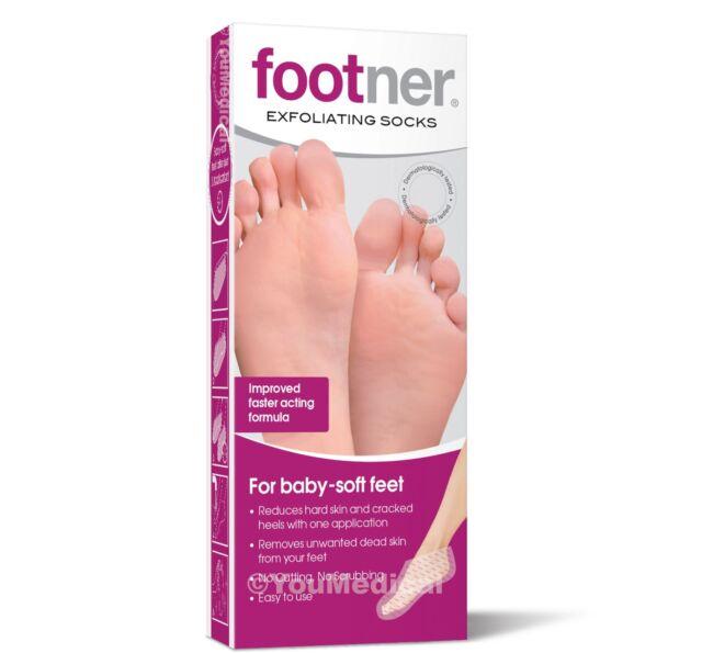 Footner Exfoliating Socks - Callus and Hard Skin Remover - Foot Care Pedicure