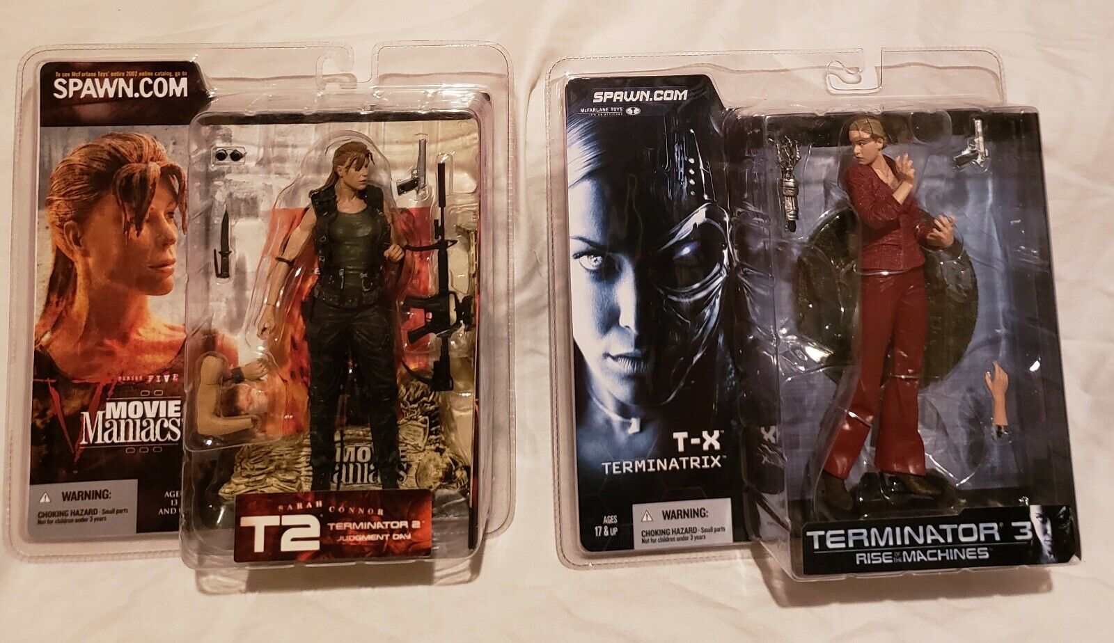 MCFARLANE TERMINATOR 2 & 3 TERMINATRIX & SARAH CONNOR 6  FIGURES...NEW ON CARDS