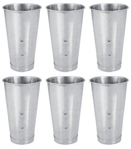 SET OF 6, 30 Oz. Ounce Malt Cup, Milkshake Cup, Blender Cup, Cocktail Mixing