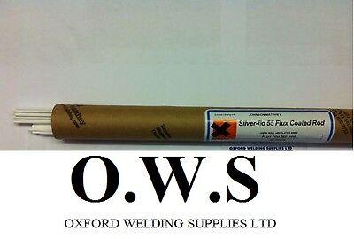 55 Flux Coated Silver Solder Rods 1 5mm X 5 Sticks Ebay