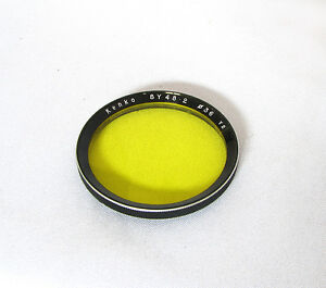 Vintage-Kenko-Bay-II-Yellow-Lens-Filter-For-Rolleiflex-3-5F-3-5E-Cameras-b