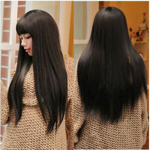 Women-039-s-Korean-Wig-Cosplay-Party-Long-Straight-Wig-Synthetic-Hair-Heat-Resistant