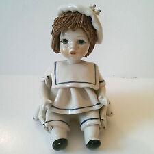 Zampiva Sitting Ben 542403 Italian Porcelain Doll Figurine Spaghetti Haired