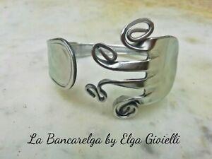 spedizione gratuita af4b8 89624 Dettagli su Bracciale artigianale da una forchetta (posate) in acciaio  bracelet fork