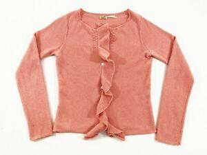 Max-Studio-Womens-100-Cashmere-Cardigan-Sweater-Pink-Size-XS