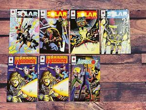 SOLAR-MAN-OF-THE-ATOM-15-16-17-21-BLOODSHOT-Comic-Book-LOT-SIGNED-Kevin-VanHook